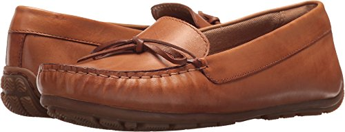 CLARKS Women's Dameo Swing Driving Style Loafer Light tan Leather 9 Medium US