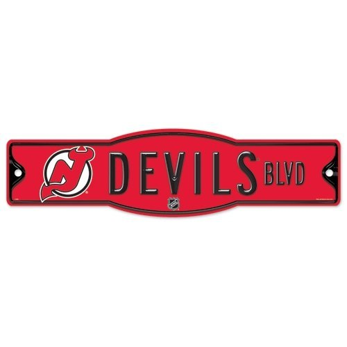 WinCraft NHL New Jersey Devils 27877010 Street/Zone Sign, 4.5