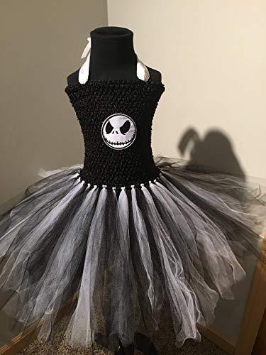 Jack Skellington Nightmare Before Christmas Tutu Dress (4T - 7/8Y) ()