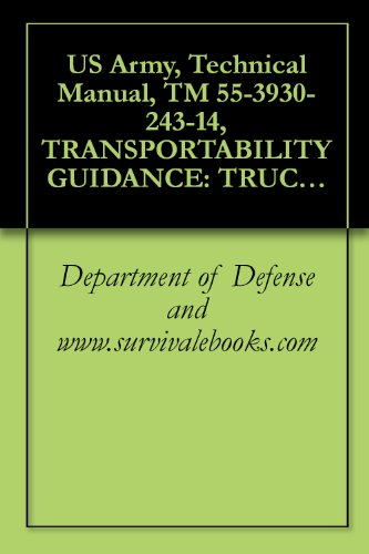 US Army, Technical Manual, TM 55-3930-243-14, TRANSPORTABILITY GUIDANCE: TRUCK, FORKLIFT, ROUGH TERRAIN: 10,0 CAPACITY, ARMY MODEL MHE-199, RTL10, ARMY ... MHE-215, RTL-10 ARMY MODEL MHE-236, M10-A,