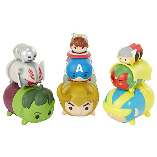 Marvel Tsum Tsum Figure - 9 Pack Giant Man, Loki, Hulk, Visi