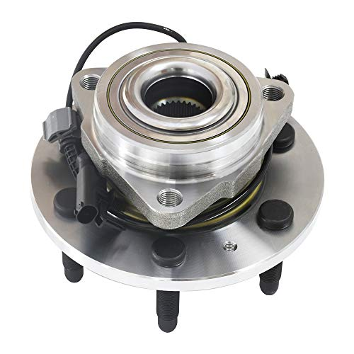 515096 Front Wheel Hub and Bearing Assembly, Hub Assembly Compatible for Escalade, Silverado, Suburban,Yukon, Direct Replacement 6 Lug W/ABS