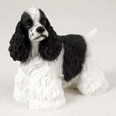 Black & White Cocker Spaniel Figurine Conversation Concepts
