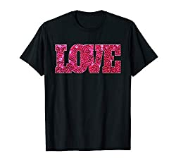 Pink Sequin Love T-Shirt