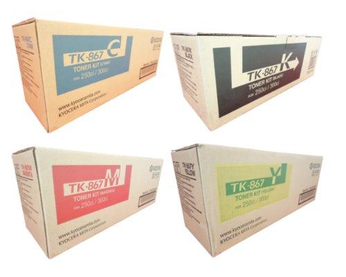 Kyocera Part# TK-867C, TK-867K, TK-867M, TK-867Y Toner Cartridge Set (OEM)