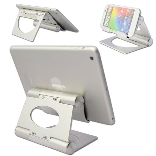First2savvv multi-angle Luxury Polished Stainless Steel Stand desktop - Galaxy Tap S Pro