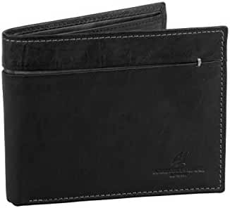 Wallet man ARMATA DI MARE black in leather with flap and coin purse A5732