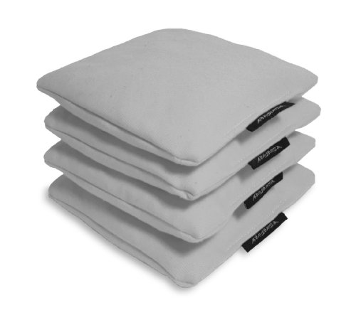 Regulation Cornhole Bags (Duck Cloth, Corn-filled, 16 oz) - Set of 4, Light Gray ()