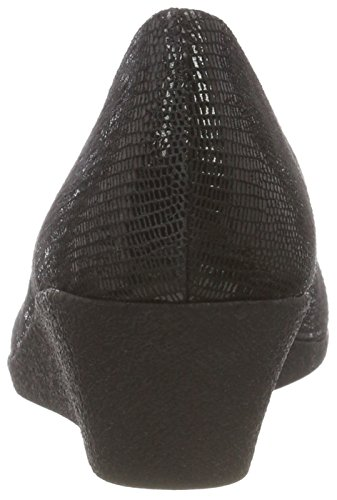 Caprice Reptile Black Escarpins 10 22318 Femme Noir An76qAUr