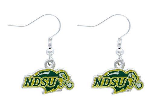 - NCAA North Dakota State Bison Logo Dangler Earrings