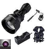 UniqueFire UF-1503 IR 940NM T50 50mm Lens Infrared Light Night Vision Flashlight Torch + 18650 Charge + Pressure Switch + QQ07 Scope Mount Kit Set (USA_1503_940kitset)
