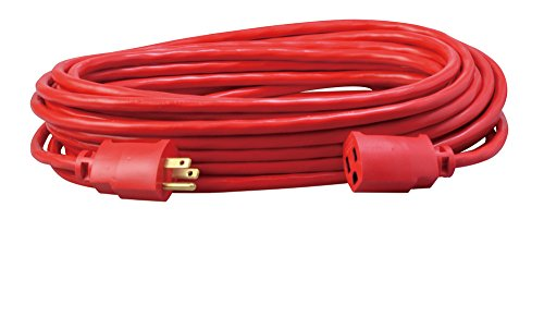 Cord Coleman Cable - Coleman Cable 02408 14/3 SJTW Vinyl Outdoor Extension Cord, 50-Foot, Red