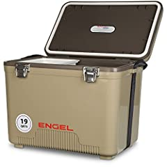 The ultimate leak-proof cooler. Ideal for hunters and kayak fishermen. Load it onto the back of your 4-wheeler or truck and head out for a great adventure outdoors. Keeps food and drinks cold. It doubles as a dry box - keeping out moisture an...
