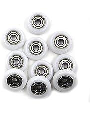 Driak Nylon Small Pulley Wheels Bearings Roller Plastic Pulley Wheels Deep Groove Bearing