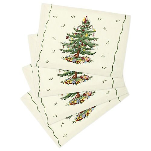 Spode Christmas Tree 4-pc. Placemat Set MULTI