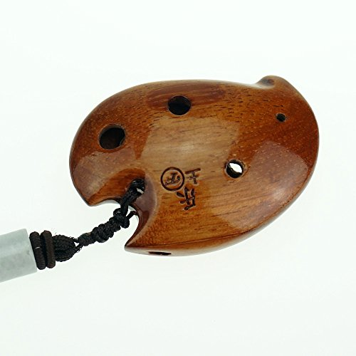 6 hole wooden ocarina elm or locust wood SSF,Exquisite De...