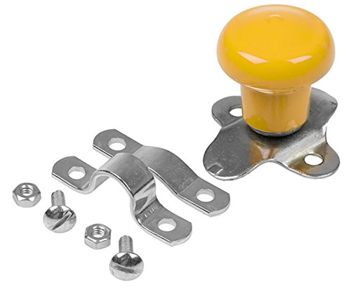WSV123Y Yellow Steering Wheel Spinner Knob for John Deere Tractors