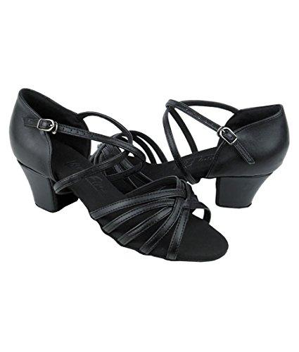 Veldig Fine Ballroom Latin Tango Salsa Dans Sko For Kvinner C1670c 1,6 Tommers Hæl + Sammenleggbar Børste Bunt