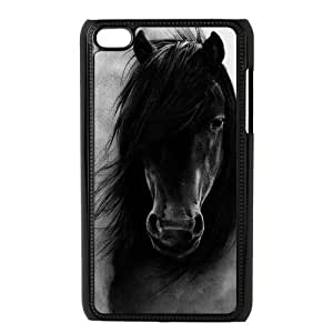 Danny Store Protective Hard PC Cover Case for iPod Touch 4, 4G (4th Generation), Horse Kimberly Kurzendoerfer