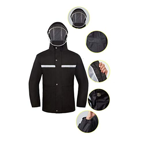 Du XL Corps Pantalon Costume Noir Noir Epaisseur Double Couche Taille Imperméable Imperméable Imperméable couleur Jxjjd wOxqA8UBA