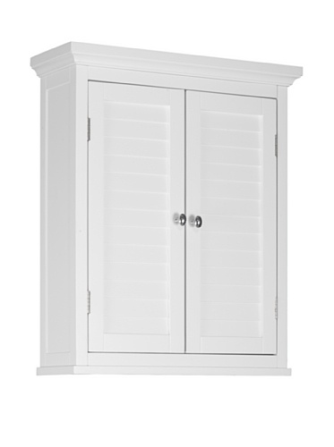 2-Shutter Doors Wall Cabinet in White