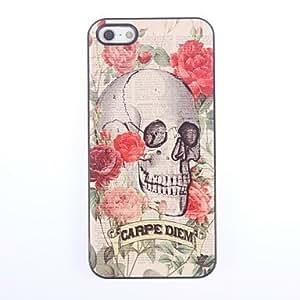 TOPQQ Skull and Newspaper Design Aluminium Hard Case for iPhone 5/5S