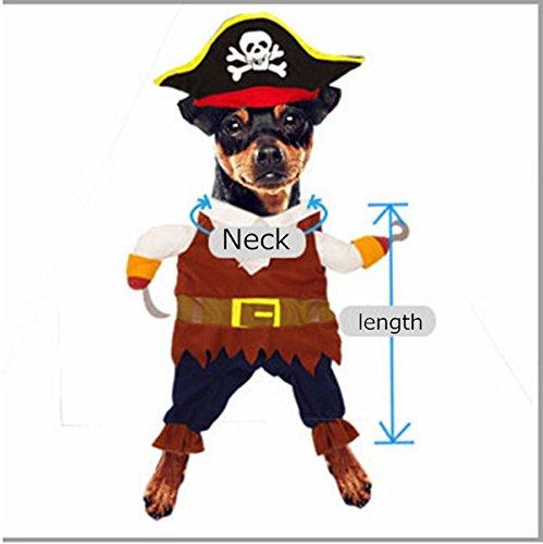 Idepet Pirata del Caribe Disfraz de Gato Funny Dog Ropa para ...