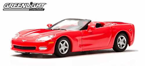Greenlight 10th Anniversary Edition: 2005 Chevy Corvette C6 Convertible 1:64 Scale (Red) (C6 Diecast Car Model)