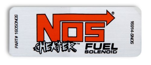 Nos Cheater Nitrous (NOS 16945NOS Cheater Fuel Solenoid Label)