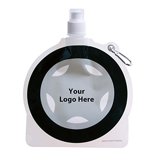 HydroPouch! 24 Oz. Tire Collapsible Water Bottle Patented - 100 Quantity - $3.40 Each - PROMOTIONAL PRODUCT / BULK / BRANDED with YOUR LOGO / CUSTOMIZED by Sunrise Identity (Image #3)