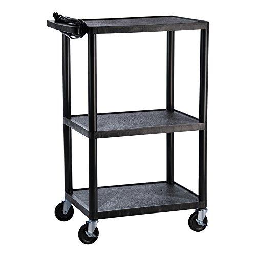 Norwood Commercial Furniture Adjustable-Height Plastic AV Cart, NOR-P-AVCART