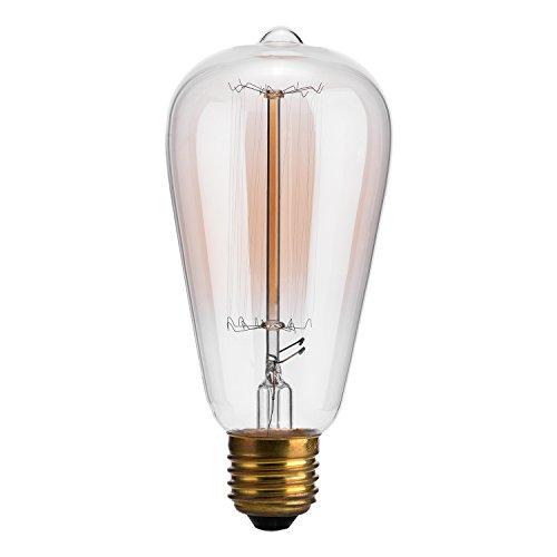 edison bulboak leaf 40w filament long life vintage antique style amber glass light bulbe26 e27 medium white amber glow