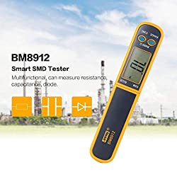 BM8912 Smart SMD Tester Resistance Capacitance Diode Digital Multimeter Mini Meter Probe Test Clip Tweezers Auto Scanning