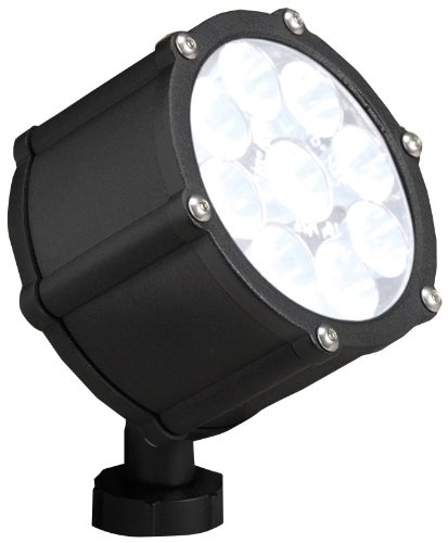 Kichler Lighting 15752BKT LED Accent Light 9-Light Low Voltage 35 Degree Flood Light, Textured Black with Clear Tempered Glass Lens