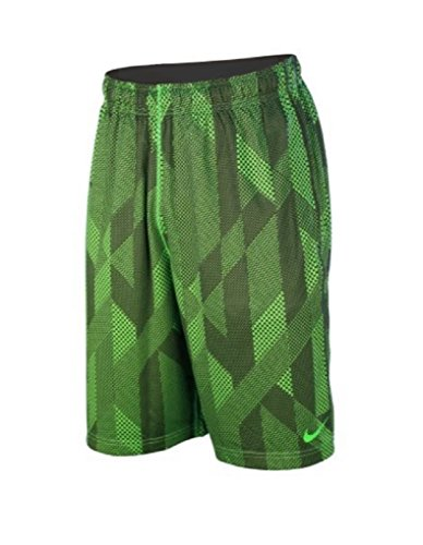Nike Boy's Dri-Fit Fly Knurling Training Shorts Green Strike/Black Small