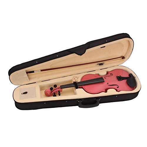 Lovinland 4/4 Acoustic Violin Pink Beginner Violin Full Size with Case Bow Rosin by Lovinland (Image #1)