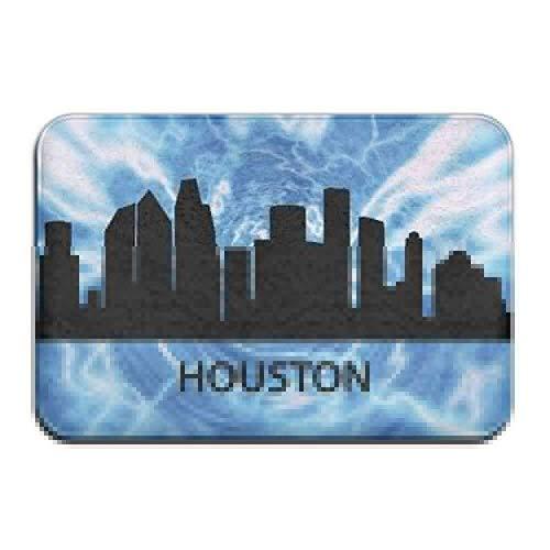 """FaceBB Doormat Bath Rug Outdoor Mats Houston Skyline Texas Mats Floor Rugs Indoor Front Door Bathroom Kitchen Mat Rubber Non Slip 15.7""""x23.6"""""""