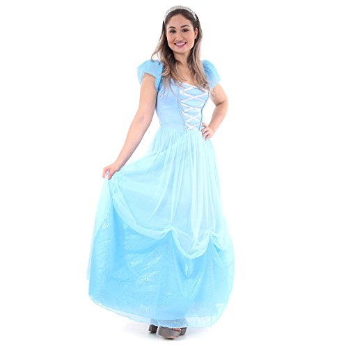 Princesa Adulto 45150-P Sulamericana Fantasias Azul P 38/40