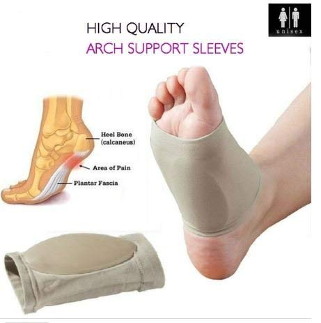 3a5d1fe00c1 Buy Purastep Unisex Flat Arch Support Pad Socks for Foot Pain Relief ...