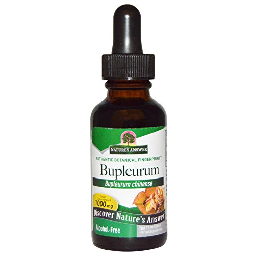Bupleurum Alcohol - Nature's Answer, Bupleurum, Alcohol-Free, 1000 mg, 1 fl oz (30 ml) - 3PC