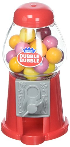 Mini Classic Gumball Machine in Traditional Red