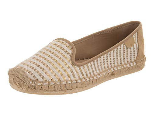 Sperry Top-Sider Women's Coco Metallic, Sand/Gold, 8 M US (Top Sperry Sider Espadrilles)