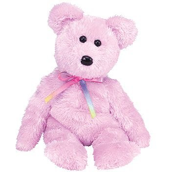 9b997cb677b Image Unavailable. Image not available for. Color  TY Beanie Baby - SHERBET  the Bear (Purple Version)