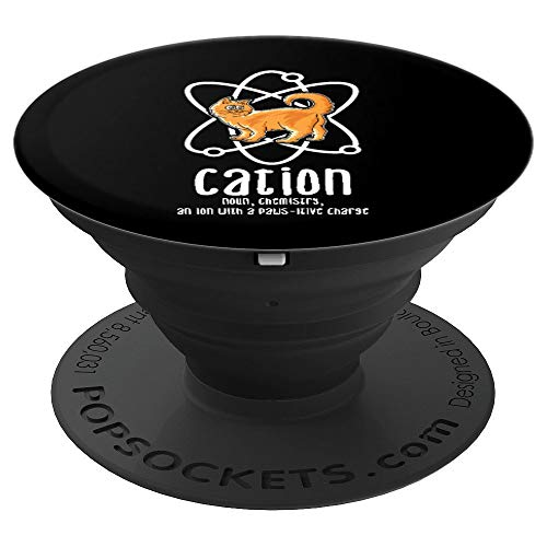 Cation Cathode Ion Physics Nerd Joke Kitten Cat Definition PopSockets Grip and Stand for Phones and Tablets