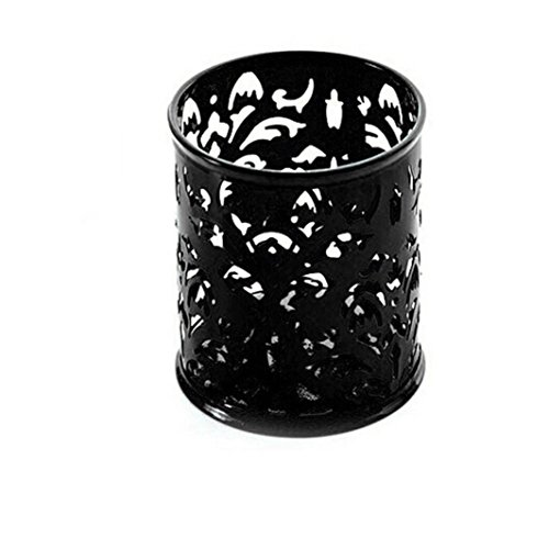 Lucoo Fashion Makeup Brush Vase Pattern Brush Pot Pen Holder Stationery Storage (Black) (Makeup Brush Holders compare prices)