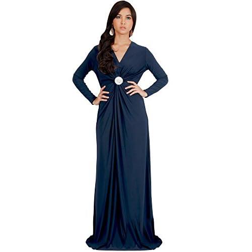 c801f706879 new KOH KOH Womens Long Sleeve Semi Formal Flowy Fall Gowns Maxi ...