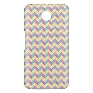 Loud Universe Motorola Nexus 6 3D Wrap Around Geometry Decorative Print Cover - Multi Color