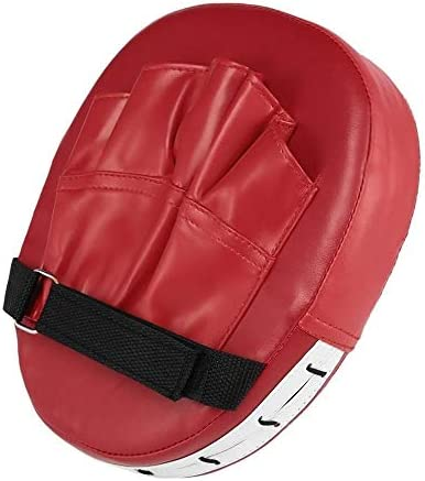 RDBH 三田ボクシンググローブパッドハンドターゲットパッドムエタイキックフォーカスパンチパッド空手テコンドーミット、泡ボクサーのトレーニングレッドブラック (Color : Red)