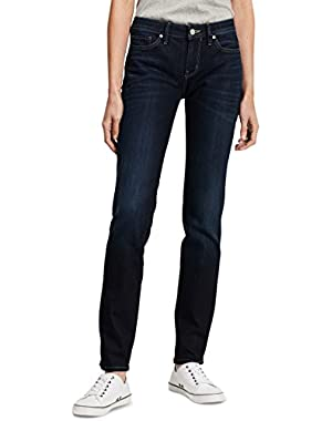 Jeans Women's Straight Leg Jean Leg, Dark Used, 29x30