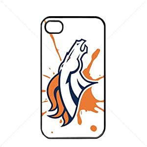 NFL American football Denver Broncos Fans Case For Iphone 5C Cover PC Soft (Black)